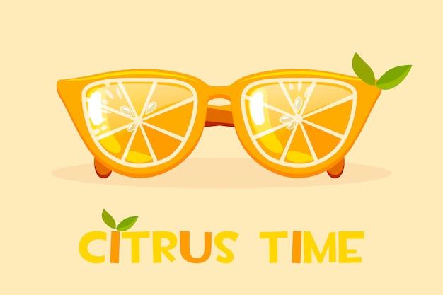 Vasos de naranja cítrica. hola verano