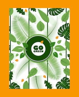 Vaya cartel motivacional inspirador verde