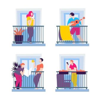 Vecinos en diseño de balcones