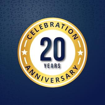 Vector de 20 años de celebraciones
