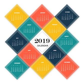 Vector 2019 calendario