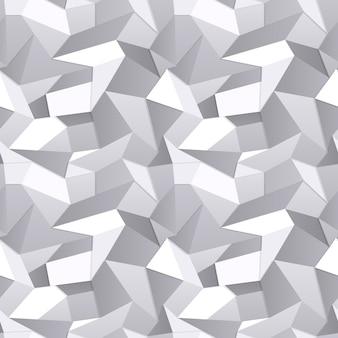 Vector 3d fondo abstracto de papel arrugado transparente