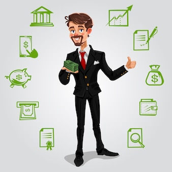 Vector 3d hombre de negocios