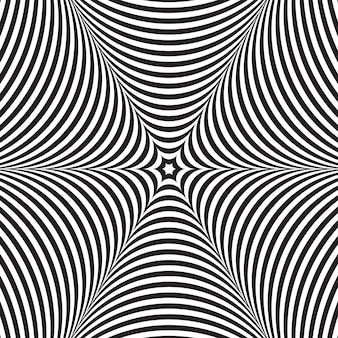 Vector abstracto blanco y negro ilusión óptica