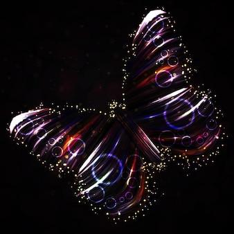 Vector abstracto brillante mariposa