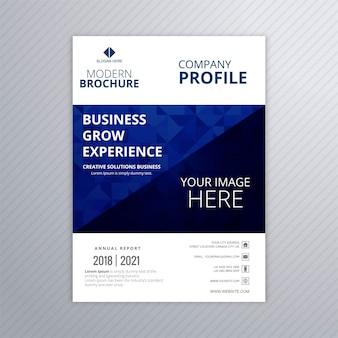 Vector abstracto del ejemplo de la plantilla de la tarjeta del folleto del negocio