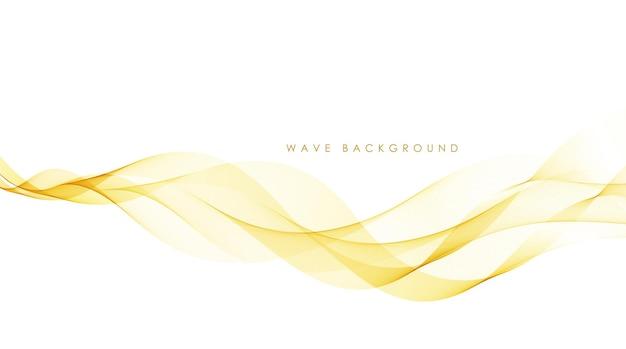 Vector abstracto elegante colorido que fluye líneas de onda de oro aisladas sobre fondo blanco