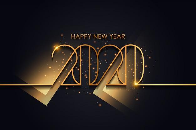 Vector abstracto feliz año nuevo