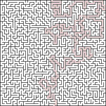 Vector abstracto laberinto de alta complejidad con solución.
