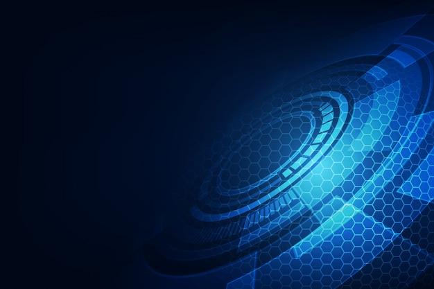 Vector abstracto tecnología de futuro, fondo eléctrico de telecomunicaciones
