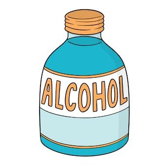 Vector de alcohol medico