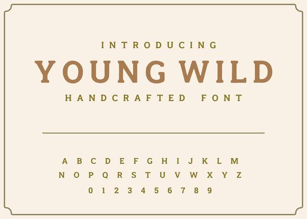Vector de alfabeto de visualización de fuente tipografía vintage