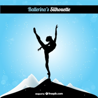 Vector artístico de silueta de bailarina