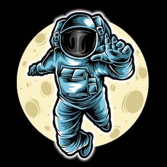 Vector de astronauta