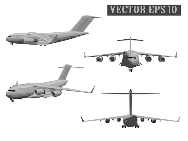 Vector de aviones del ejercito