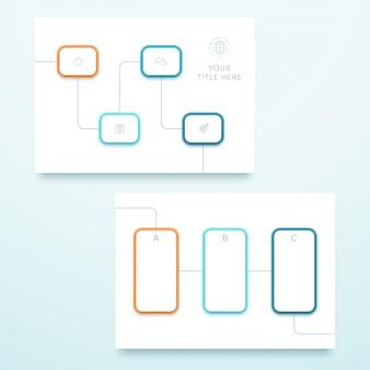 Vector azul cuadrado 3d paisaje página plantilla