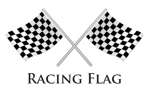 Un vector de bandera de carreras