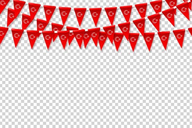 Vector banderas del partido turco aislado realista
