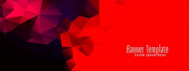 Vector de banner de diseño de polígono geométrico abstracto