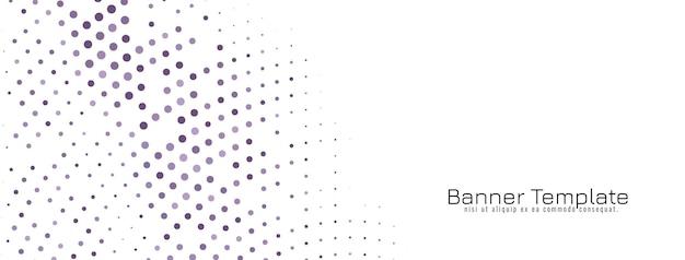 Vector de banner de diseño de semitono elegante abstracto