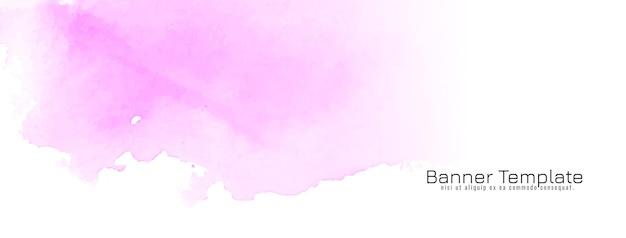 Vector de banner de diseño de textura acuarela rosa abstracta