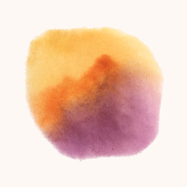 Vector de banner de estilo acuarela amarillo y púrpura