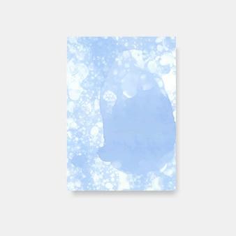 Vector de banner de estilo acuarela azul