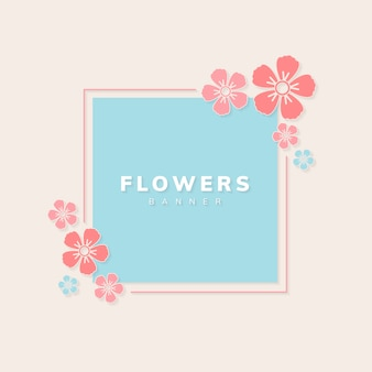Vector de banner floral
