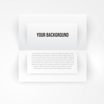 Vector banner de plantilla de papel. blanco