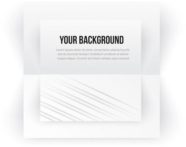 Vector banner de plantilla de papel. nota blanca