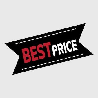 Vector de banner promocional de mejor precio