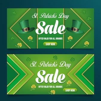 Vector de banner de venta de día de pst patrick