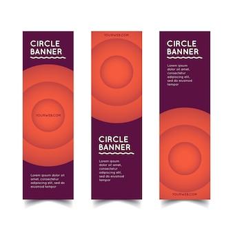 Vector de banners de círculo
