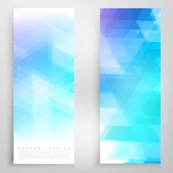 Vector banners y triángulos.