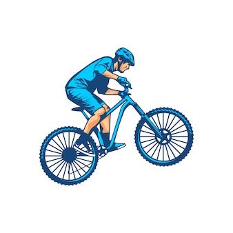 Vector de bicicleta de montaña