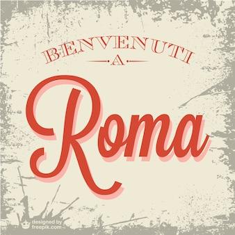 Vector bienvenidos a roma