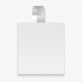 Vector en blanco wobbler cuadrado con tira transparente