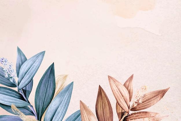 Vector de borde estético de fondo de flores silvestres, remezclado de imágenes de dominio público vintage