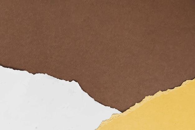 Vector de borde de papel rasgado sobre fondo de tono de tierra hecho a mano