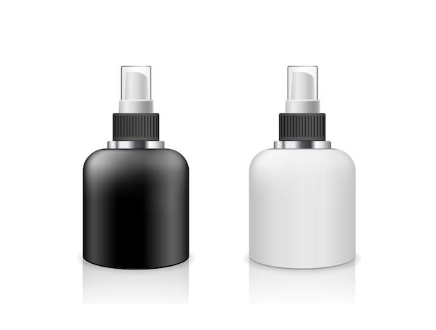 Vector botella de spray productos en blanco y negro colección de diseño de bajo tamaño