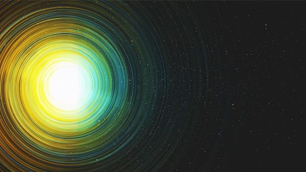Vector brillante hiperespacio realista vía láctea espiral