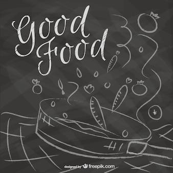 Vector de buena comida dibujado a mano