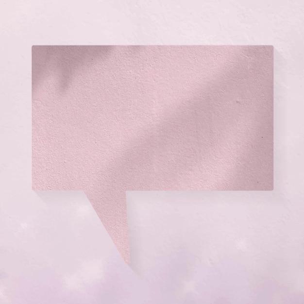Vector de burbujas de discurso de anuncio en blanco, sombras estéticas