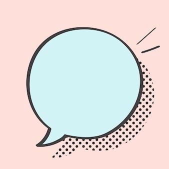 Vector de burbujas de discurso en estilo pop art