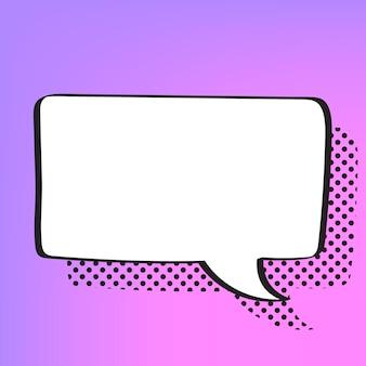 Vector de burbujas de discurso en estilo de semitono
