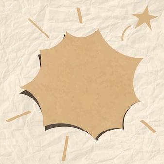 Vector de burbujas de discurso en tono marrón