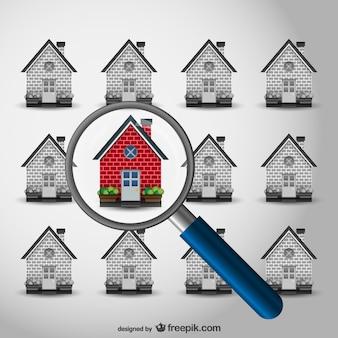 Vector buscando casa vector gratuito