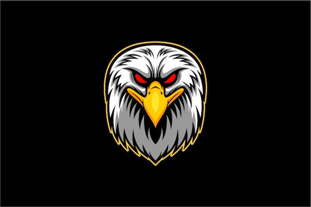 Vector de cabeza de águila calva