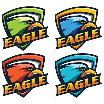 Vector de cabeza de águila logo