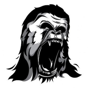 Vector de cabeza de gorila